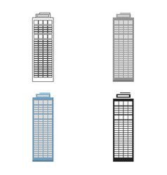 Skyscraper icon cartoon single building icon from vector