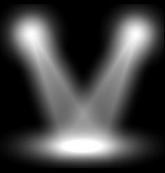 Spotlight light effect white color vector