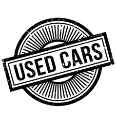 used cars rubber stamp vector image vector image