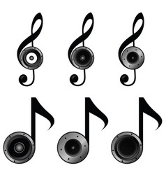 violin key set music sound vector image