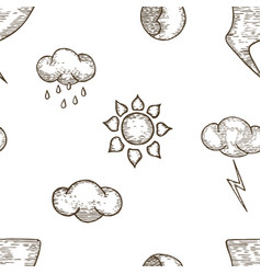 Weather seamless pattern background vector