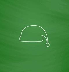 Winter cap computer symbol vector