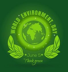 world environment day concept design 5 june vector image vector image