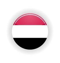 Yemen icon circle vector image