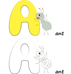 Letter A Ant vector image