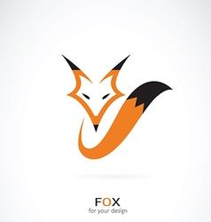 Fox design on white background vector