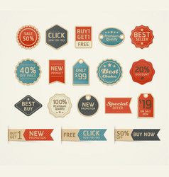 Set of retro vintage badges and labels design vector