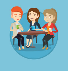 group of women drinking hot and alcoholic drinks vector image