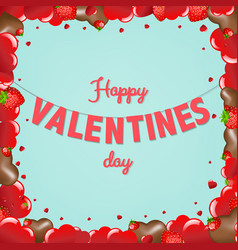 Card valentines day vector