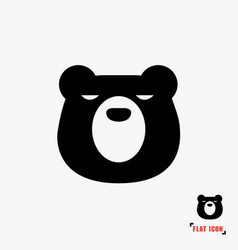 Bear flat icon vector