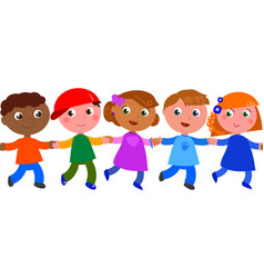 seamless line of children vector image
