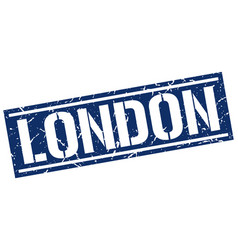 London blue square stamp vector