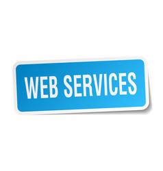 Web services square sticker on white vector