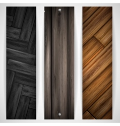 Wooden grey banner vector