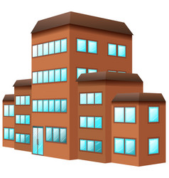 3d design for building in brown color vector