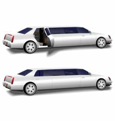 White limousine set vector