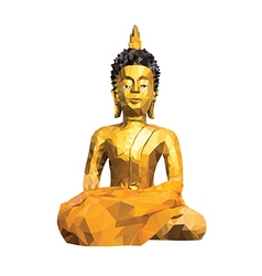 Abstract buddha statue low poly style background vector