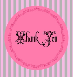 Thank you vintage card vector