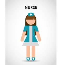 Professional nurse vector