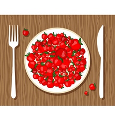 Apples on plate vector