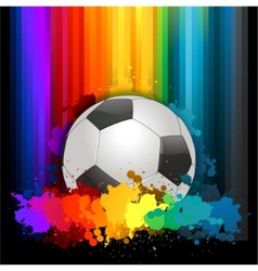 Abstract colorful soccer background vector