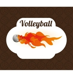Volleyball icon design vector