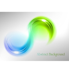 Abstract shape smoke double white blue green vector