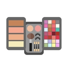 Flat make up cosmetic vector