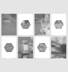 a4 brochure cover design with geometric shapes and vector image