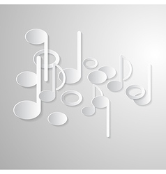 Abstract Music Background Notes Made from Paper vector image vector image