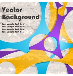 Background with lines and grunge vector image vector image
