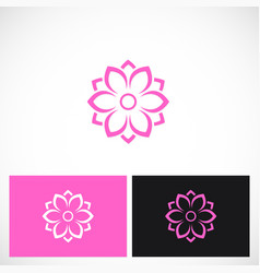 beauty flower abstract logo vector image vector image