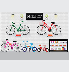 Bicycle stores or bike shops vector