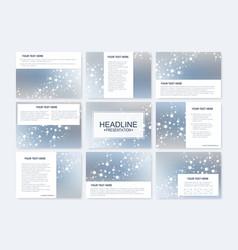 Big set of templates for presentation vector