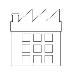 Black line factory icon vector