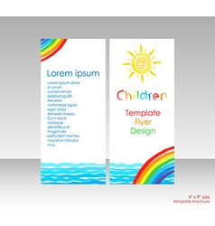 Brochure with bright cover picture vector image