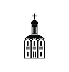 Church black simple icon vector image