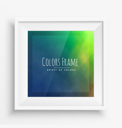 Colors frame with realistic frame vector