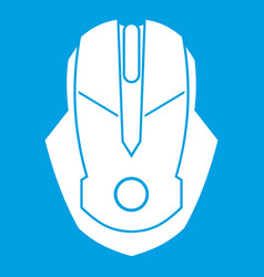 Computer mouse icon white vector