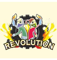 Crisis logo revolution vector