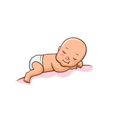 cute little baby vector image
