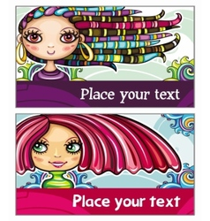 fashion cards 1 vector image vector image