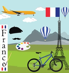 France travel concept vector image vector image