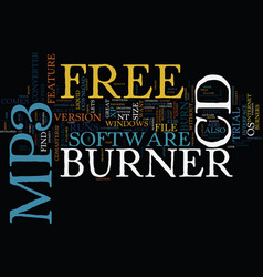Free mp to cd burner text background word cloud vector
