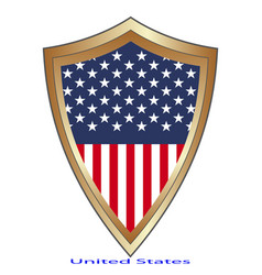 glossy label made in usa on white vector image