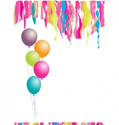 happy birthday balloons and confetti vector image vector image