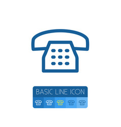 isolated dial outline call element can be vector image vector image