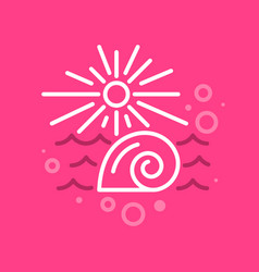 linear summer label vector image vector image