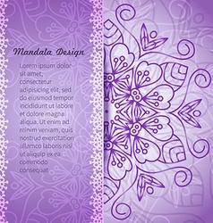 Mandala invitation vector