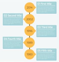 Modern timeline infographics design template vector image